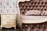 Close-Up of Large Luxury Bed - 223063454