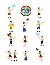 Oktoberfest German Celebration Sticker