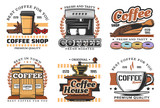Coffee shop, desserts and and drinks icons