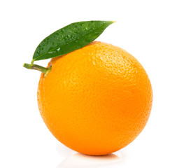 Whole orange, close up.