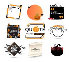 Halloween Creative Quote Text  Template Stickerlabeltagbanner Sticker