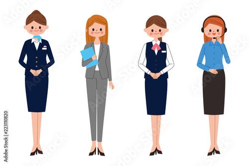 働く女性 イラスト サービスと接客 Buy Photos Ap Images Detailview