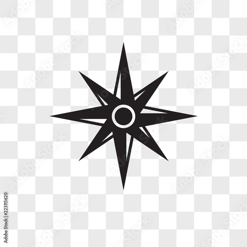 Wind Rose Vector Icon Isolated On Transparent Background Wind Rose