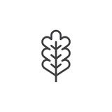 Oak leaf outline icon. linear style sign for mobile concept and web design. Autumn leaf simple line vector icon. Symbol, logo illustration. Pixel perfect vector graphics