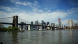 Timelapse of New York City Skyline Famous Brooklyn Bridge Tourist Attraction Day - 223124882