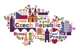 Symbols of the Czech Republic in the form of a map