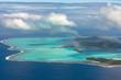 bora bora french polynesia aerial airplane view - 223131629
