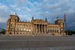 German parliament Bundestag in Berlin during sunset