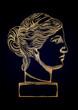 Venus de Milo head sculpture drawn in engraving technique