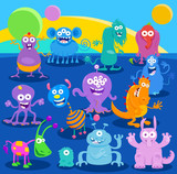 Cartoon Fantasy Monster or Alien Characters - 223150696