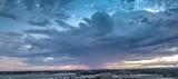 Color sky clouds city