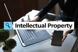 Intellectual property rights. Patent. Business, internet and technology concept. - 223174262