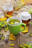 herbal tea infusion. Alternative medicine - 223175814