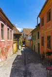 Romania Sighisoara streets of the old city