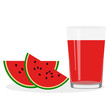 Healthy Lifestyle. Freshly squeezed juice in a glass. Watermelon. Watermelon juice. - 223186271