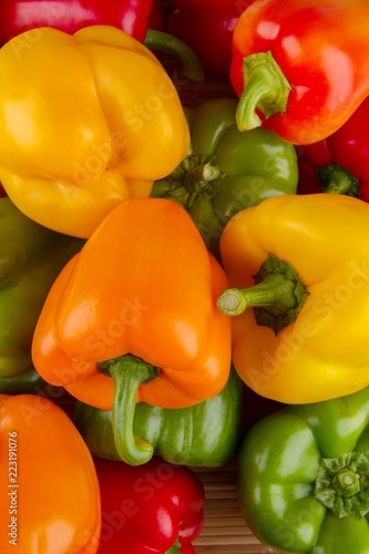 Multi-colored bell peppers - 223191076