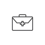 First aid kit outline icon. linear style sign for mobile concept and web design. Doctor bag with medical cross simple line vector icon. Symbol, logo illustration. Pixel perfect vector graphics - 223194287