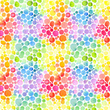 Seamless pattern with abstract geometric triangles. Watercolor spots, shapes, beautiful paint stains like cosmic nebula. Background for parties, holidays, birthdays. - 223197275