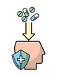 profile head mental medication protection