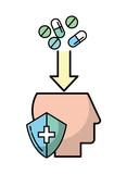 profile head mental medication protection - 223199406