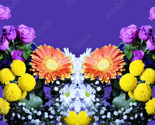 Flower arrangement of orange white pink yellow flowers buy photos flower arrangement of orange white pink yellow flowers mightylinksfo