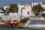 Mykonos. Traditional building of the Greek Church. - 223216043