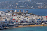 Chora. Mykonos. Aerial view of the city. - 223216089
