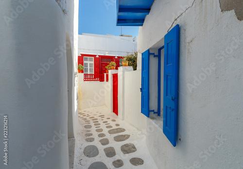 Greece. Mykonos. Typical architecture.