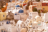 Traditional decoration element in Oia village, Santorini island, Greece - 223226428
