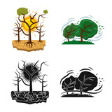 Vector design of natural and disaster icon. Collection of natural and risk stock symbol for web. - 223231878