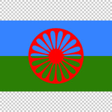Flag of Romani People. Close Up vector - 223239276