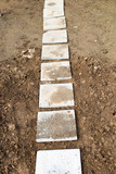 Slabs pavement in the yard - 223247807
