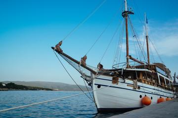 Passenger ship in Krk Town, Croatia