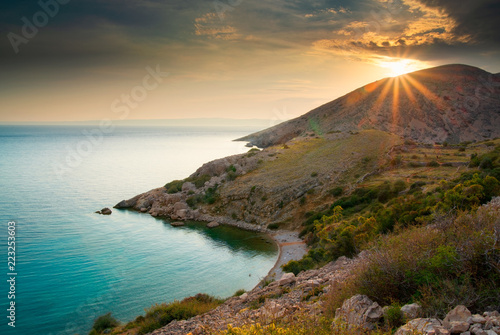 Bay near Stara Baska, Krk Island, Croatia