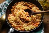 Pasta e fagioli باستا الحبوب 파스타 에 파졸리 Ζυμαρικά και φασόλια ft81090478 fasoeu Cucina italiana  - 223255207