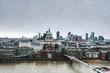 City of London in winter