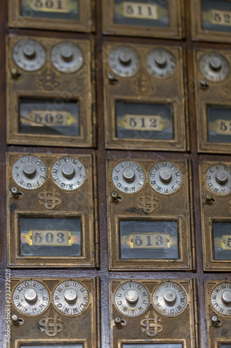 Antique Metal Post Offices Boxes