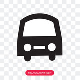Frontal bus vector icon isolated on transparent background, Frontal bus logo design