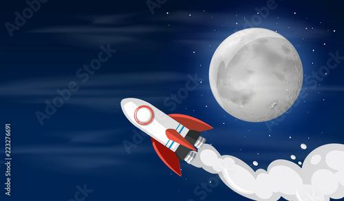 Fototapeta A rocket on the sky