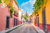 Beautiful streets and colorful facades of San Miguel de Allende in Guanajuato, Mexico - 223277038