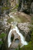 Maligne Canyon, Jasper National Park. The shear walls of Maligne Canyon. Jasper National Park. Alberta, Canada.   - 223281427