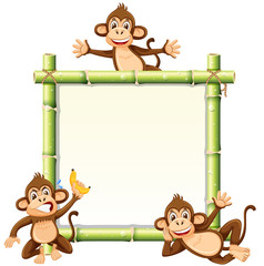 Monkey on the bamboo board © brgfx