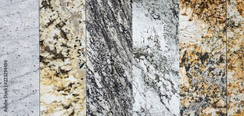 close up on granite sample in store as background - 223294484