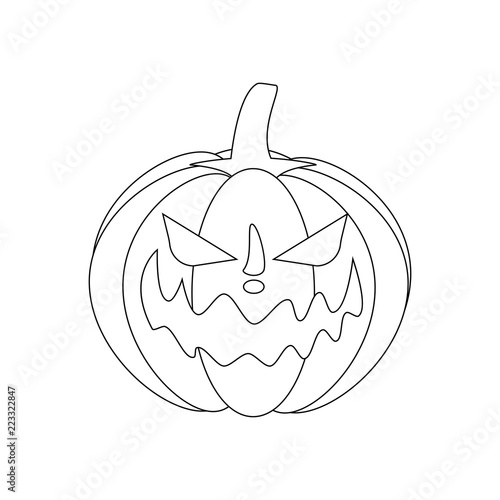 Jack O Lantern Pumpkin Illustration