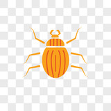 Beetle vector icon isolated on transparent background, Beetle logo design