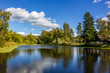 View of the Upper Komsomolskiy pond, Obninsk. Russia