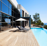 Luxury villa with swimming pool. Modern villa with pool. - 223338061