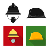 Vector illustration of headgear and cap icon. Collection of headgear and accessory stock vector illustration. - 223339690