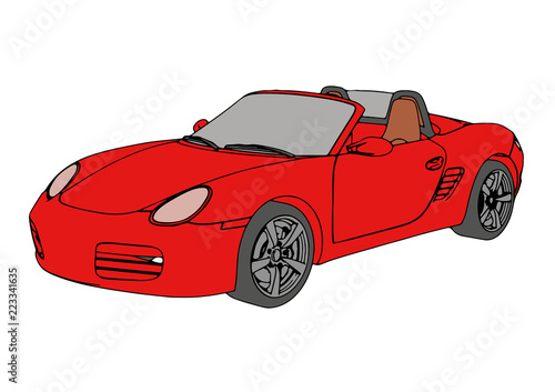red sports car vector - 223341635