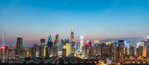 shenzhen skyline at night - 223348264